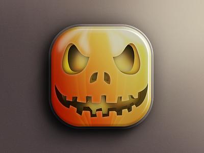 Happy Halloween Icon App tweetbot icon application iphone twitter photoshop halloween happy mobile design ipad ios