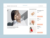 minimalist online beauty store