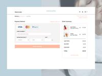 minimalist checkout page design