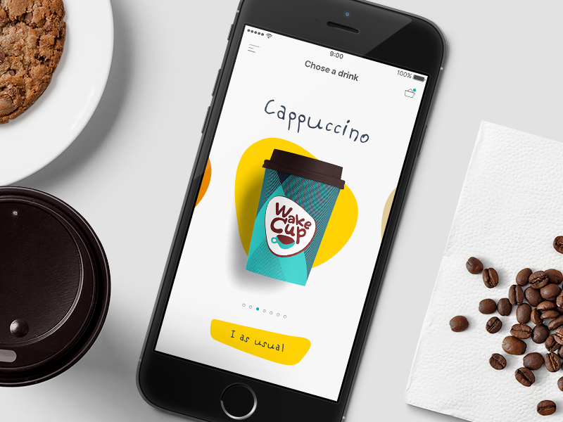 Coffee app - Design concept ui mobile app coffee