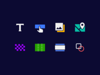 Icon set for Landing Page Builder