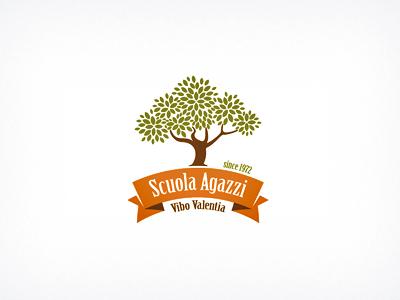Logo Agazzi School school logo tree identity branding