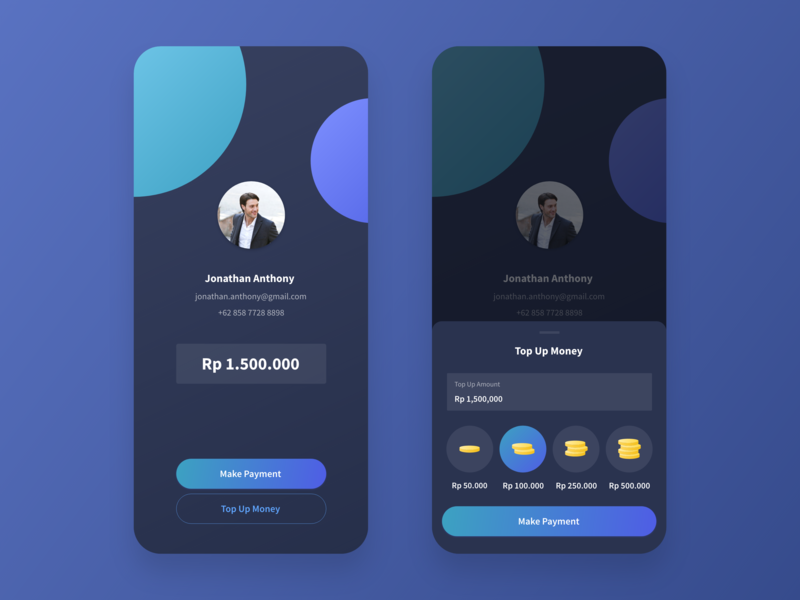 Simple Mobile Wallet by Vincent Wendy on Dribbble