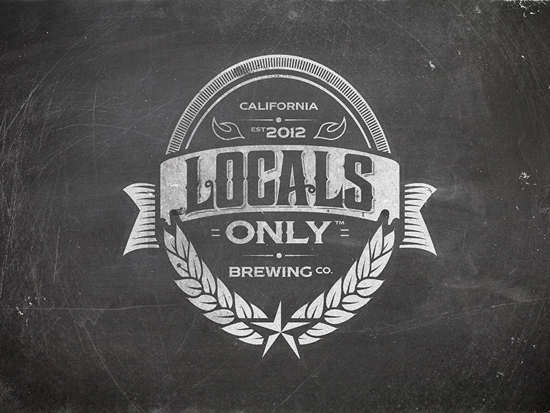 Locals Only Brewing Co brewery beer brewing label packaging vintage socal