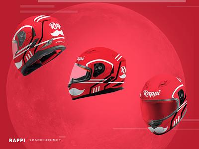 Motorcycle Helmet Design for Food Delivery App spaceforce corporate merchandise design merchandise package helmet motorcycle delivery food design app design