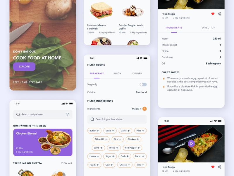 Introducing Ricette | Online food recipe app