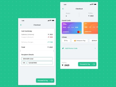 Grocery App - Checkout & Payment