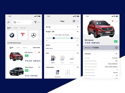 Car Marketplace Concept UI