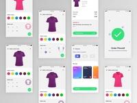 T-shirt E-Commerce UI concept