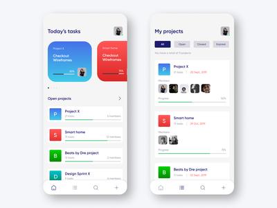 Task management concept UI