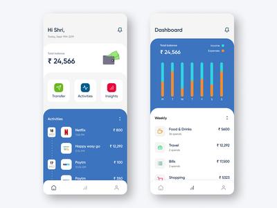 Wallet app concept UI