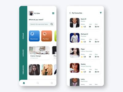 On demand services concept UI