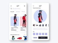 Fox Racing store concept UI