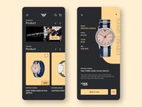 Emporio Armani store concept UI