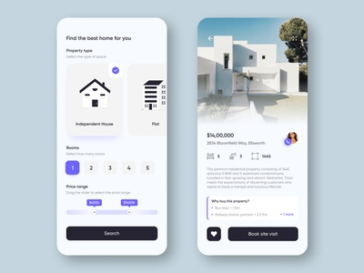 Real estate concept UI