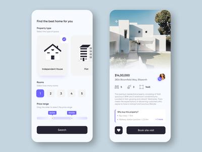 Real estate concept UI