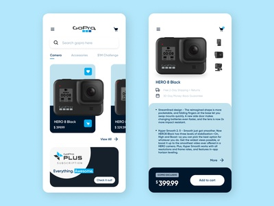 GoPro E-commerce Concept UI