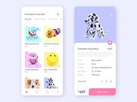 Toy store app concept UI