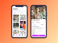 Yoga App-Explore and Studio Detail Page