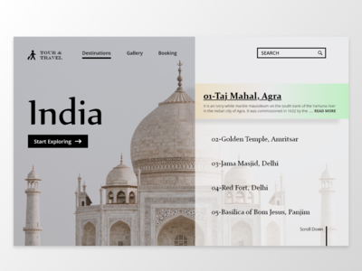 Travel Website Concept Design