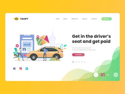 Taxi UI concept