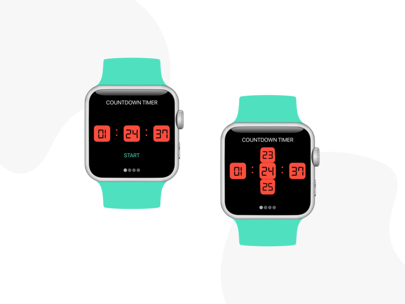 Countdown Timer | Apple Watch typography watches timers apple watch countdown timer