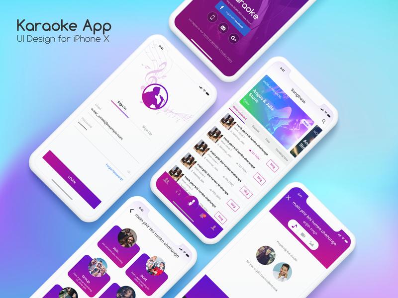 Karaoke Apps ios by Ravindra Nath   Dribbble   Dribbble