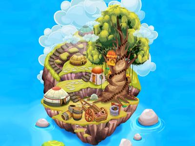 game map island