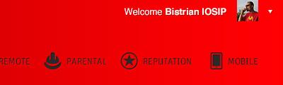 Account Owner account profile menu web app webapp