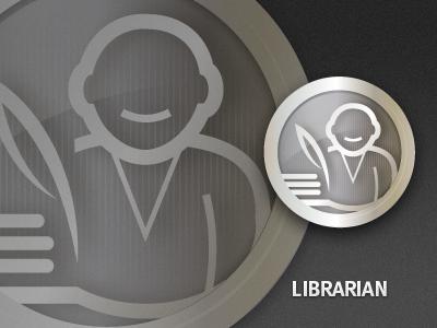 Librarian Badge phone app reward ui badge set icons icon
