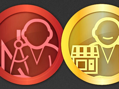 Badges Regular icon iconset badge app mobile phone