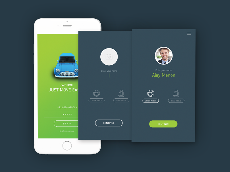 Car Pooling App Concept By Ajas On Dribbble