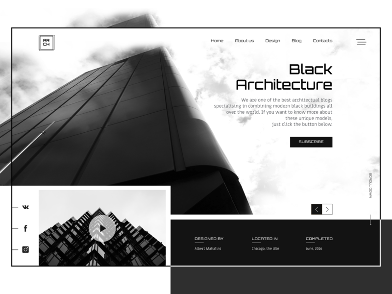 Website ideas for an architectural bureau by polina gutsanovich