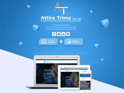 Garments Trims Manufacturer Website Design