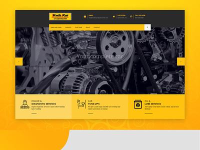 Car Maintainance Website Design business ux web ui design