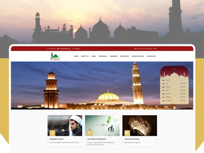 Islamic Website Design ui ux web  design web design symplelogix mosque masjid islamic