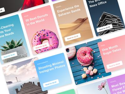 1XD Colour Cards article e-commerce colours browse flat web design web design ui cards color