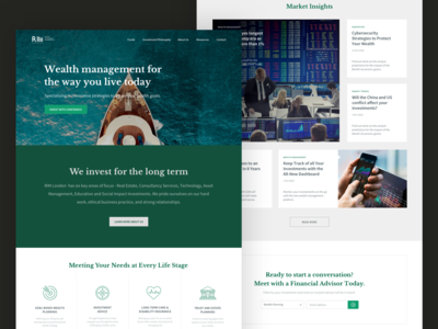 Asset Management Firm Corporate Page investment finance business finance professional green cards article web ui web design call-to-action capture conversion rate optimization conversion rate optimisation conversion design ui pack asset management corporate website landing page corporate