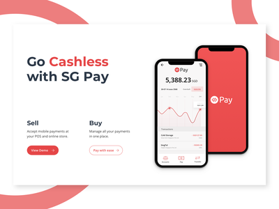 SG Pay - Integrated Cashless Payments ui conversion design expense tracker clean web call-to-action ux wallet chart ui pack web design finance app finance e-wallet payment fintech