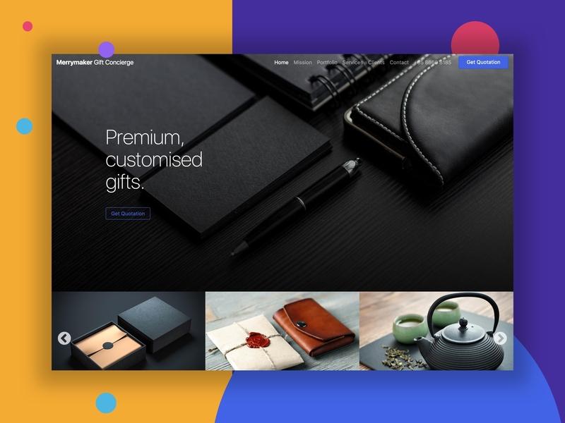 Merrymaker Concierge design colours clean web design web ui