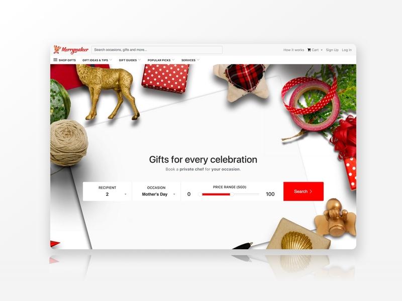 Merrymaker Concierge branding illustration design colours clean web design web ui