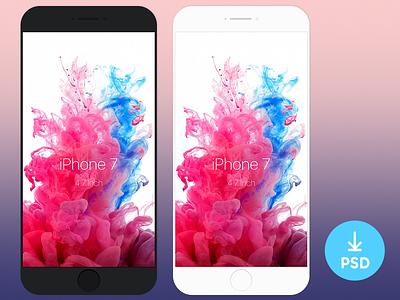 Minimal iPhone 7 Concept Template minimal template showcase psd mockup iphone freebie free concept black app