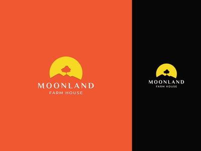 MOONLAND logo concept identity vector flat creative  design design minimal logo branding graphic design