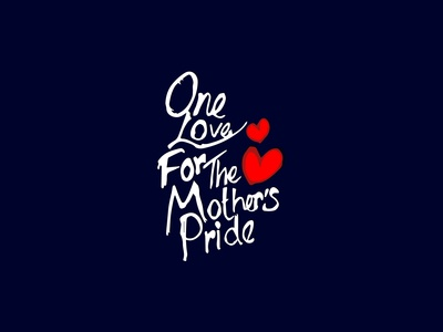 One Love - Typography vector flat typography branding creative  design graphic design