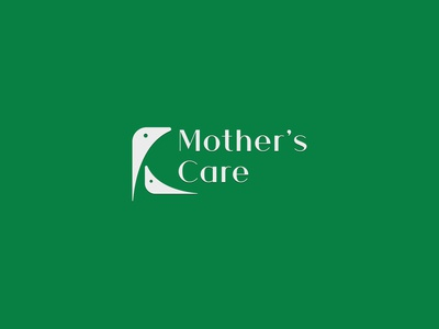 Mother s Care logo concept icon flat identity creative  design logo minimal branding