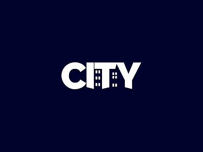 CITY icon illustration logo concept typography identity creative  design logo minimal negative space logo graphic design branding