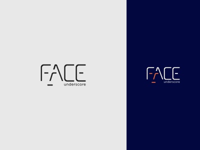 FACE negative space logo concept negative space logo icon identity flat creative  design minimal logo branding