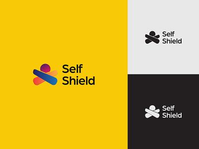 Self Shield logo concept identity creative  design minimal logo graphic design branding