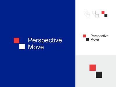 Perspective Move logo concept icon identity flat design creative  design minimal logo graphic design branding