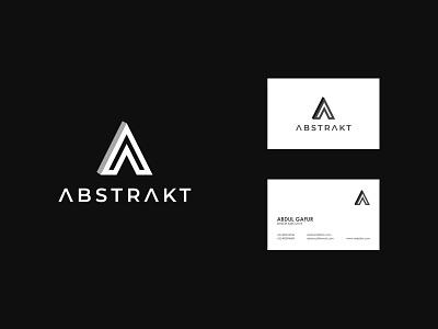 ABSTRAKT logo concept icon identity flat design creative  design minimal logo graphic design branding